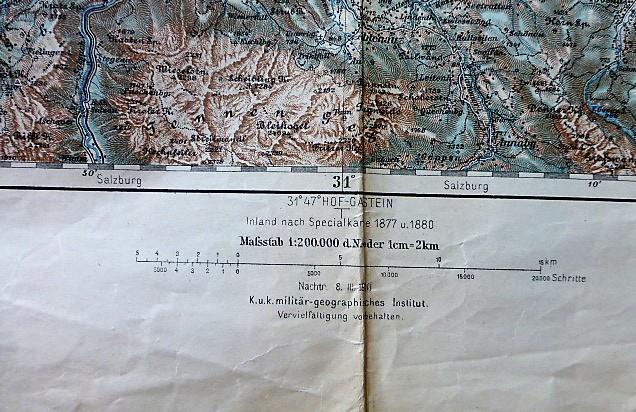 Salzburg Salzkammergut  and surroundings map Wien Umgebung Plan Karte Austria Österreich 1880