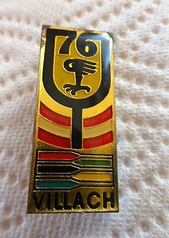 Villach Abzeichen badge pin 1976