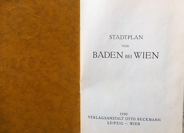 Baden bei Wien Österreich Stadtplan 1930 Austria map
