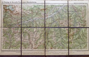 G. Freytag & Berndt's Touristen-Wanderkarte Schladminger Tauern Blatt 20.
