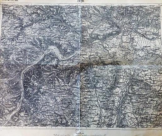 Krems Zone 12 COL XIII militarische Karte 1902 Österreich