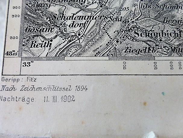 Krems Zone 12 COL XIII militarische Karte 1902