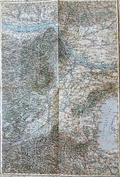 Landkarte der Umgebung von Wien aus dem Jahr 1893 Österreich map Austria