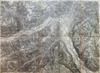 Meran Zone 19 Kol IV.Karte Merano 1892 map