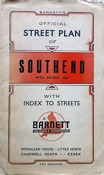 Official Street Plan of Southend with district map