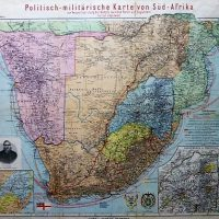 Politish-militarische Karte von Süd-Afrika South Africa military political map 1899