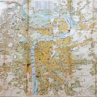 Prag Praha Prague map Landkarte 1945