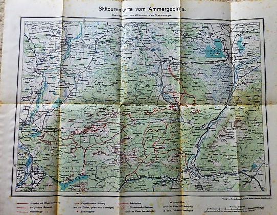 Skiroutenkarte vom Ammergebirge Herausgegeben vom Wintersportverein Oberammergau