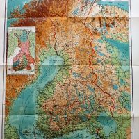 Suomen Kasikartta map of Finland Handkarta over Finland