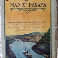 Birds Eye View of the Panama Canal and Map of Panama