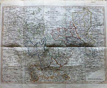 Charte von dem Königreiche Westphalen Prag 1809