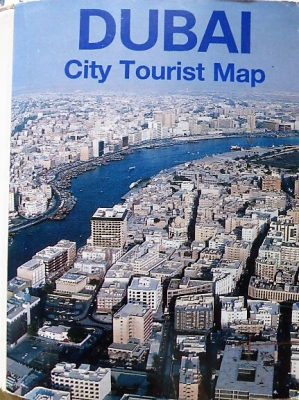 Dubai Tourist Map 1989