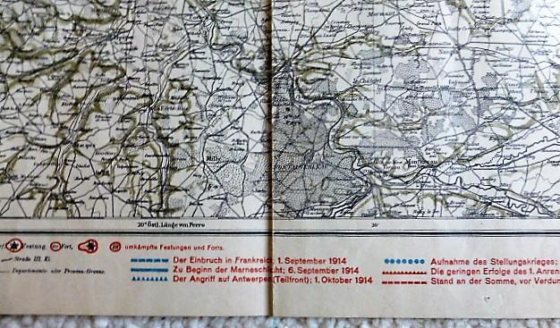 Fleming's Grosse Karte Der Westfront - Nordhälfte