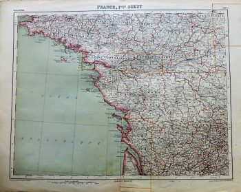 France Fille Ouest Carte map Atlas Universel