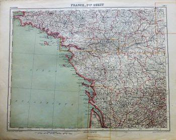 France Fille Ouest Carte map Atlas Universel