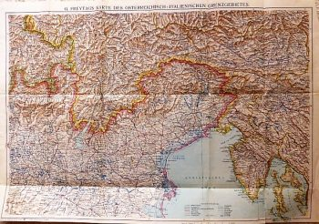 G. Freytag's Karte Des Österreichisch-Italienisches Grenzgebietes 1915 map