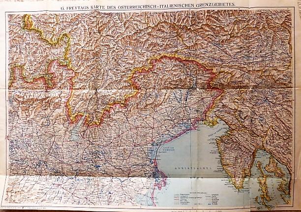 G. Freytag's Karte Des Österreichisch-Italienisches Grenzgebietes