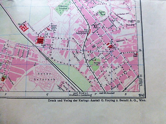 Orientierungsplan von Wien 1940