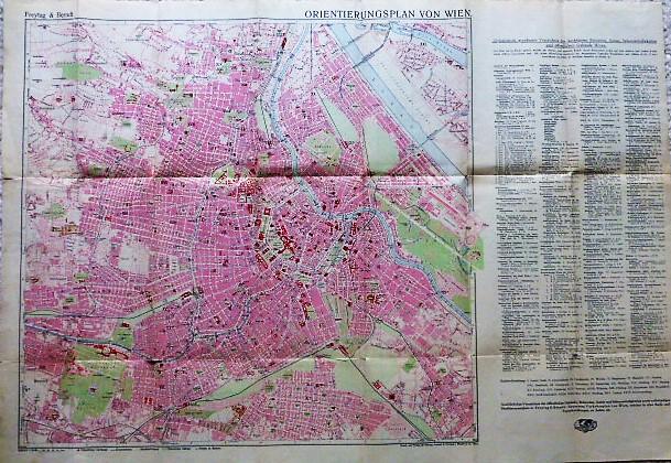Orientierungsplan von Wien Freytag Berndt 1940, Wien map