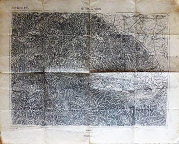 Slatina und Vocin Kroatien 1900 Kriegskarte Zone 23 COL XVII