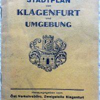 Stadtplan von Klagenfurt und Umgebung cca 1928
