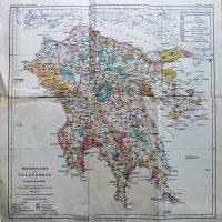 Vegetation's Karte Des Peloponnes 1895