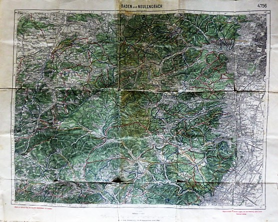 Wanderkarte Baden und Neulengbach