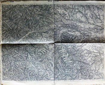 Wikow Werchny Vicovu de Jos Romania Zone 14 Col XXXIII Kriegskarte military map 1897