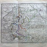 Charte vom Europaischen Russland 1815 map Landkarte