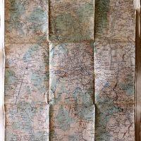 Skopje Skoplje North Macedonia map Landkarte 1915