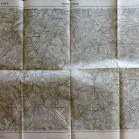 Bistricioara Neamt Romania map Landkarte cca 1916