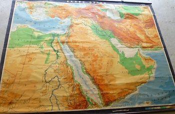 Middle East map Saudi Dubai old german