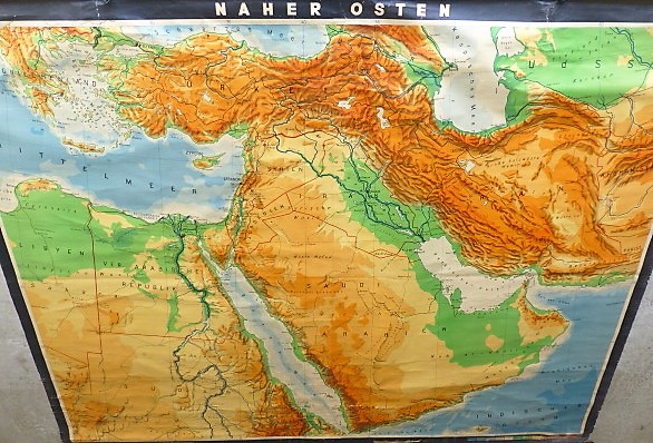 Middle East map Saudi Dubai old german