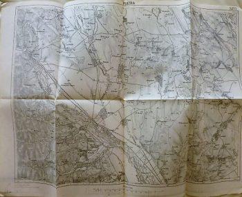 Piatra Transsylvania Romania old map cca 1915