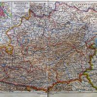 Österreich Östlicher Teil Landkarte Austria old map