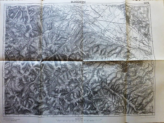 Bajaschestie Falticeni Romania 1915 old map Landkarte harta