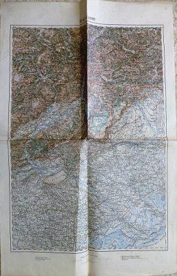 Belluno Italy 1897  map mappa Landkarte