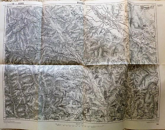 Buhus Románia harta old map Landkarte 1906