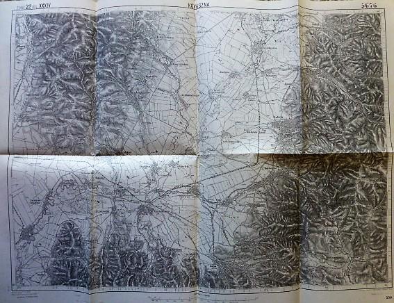 Covasna Kovaszna Romania 1914 harta old map Landkarte