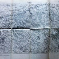 Darabani Romania map Landkarte harta 1915