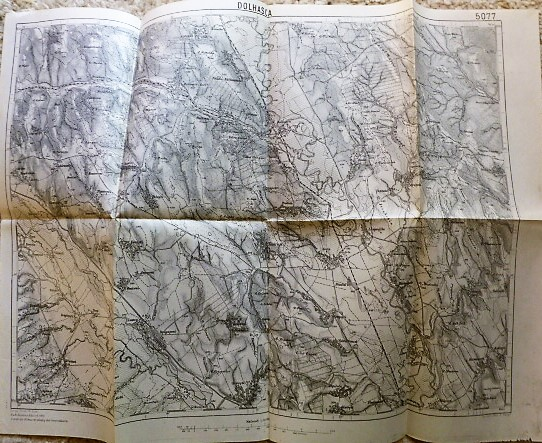 Dolhasca Románia harta old map Landkarte