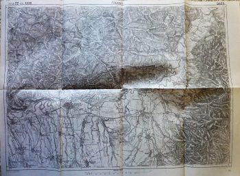 Fogaras Romania 1914 old map, Landkarte, harta
