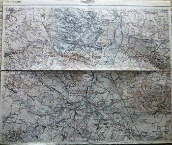 Krasnystaw Tarnogora Poland Polski mapa old military map Krasnostaw