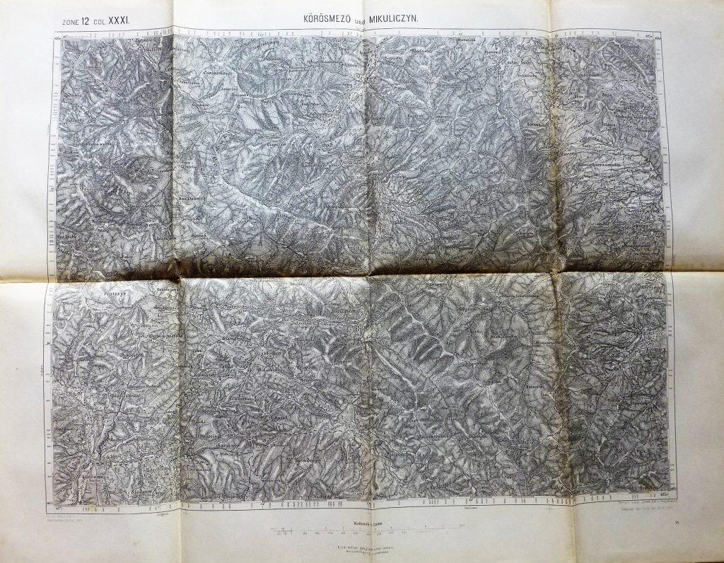Mykulychyn Mikuliczyn Ukraine 1913 map Landkarte karta
