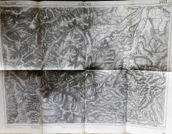 Pasul Oituz Ojtoz Pasz Romania 1916 map harta Landkarte