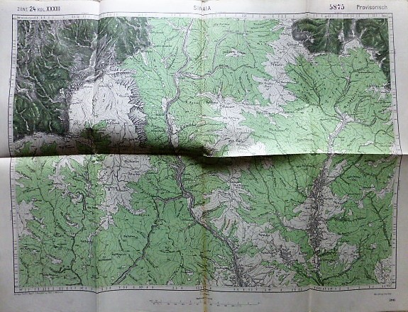 Sinaia Romania harta old map Landkarte 1915
