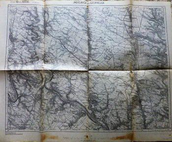 Jagielnica und Czernelica Ukraine karta map Landkarte 1913