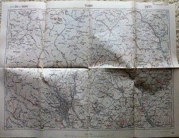 Slonu Bátráni Calvini Drajna Romania harta map Landkarte 1915