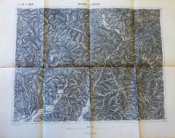 Berezna Berezovo Szinever Sinevir Ukraine 1894 map Karta Landkarte