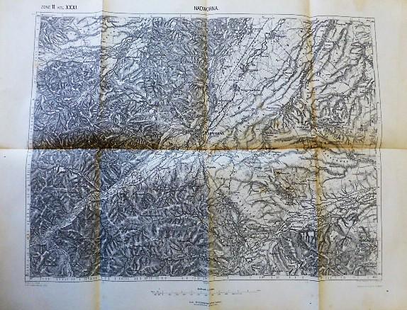 Nadworna Nadvirna Wolosow Volosiv Ukraine  Karte map Landkarte 1911